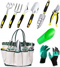 Set of 7 pieces + gloves + cup, set of gardening