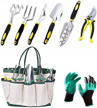 Set of 7 pieces + gloves, set of garden planting
