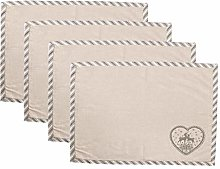 Set of Four 100% Cotton Linen Christmas Dining