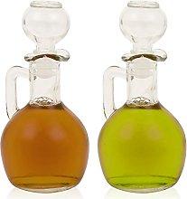 Set of Oil & Vinegar Glass Decanter 160ml Condimen