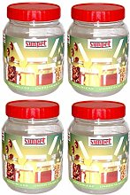 Set of Sunpet Red Top 1000ml 1Lt Plastic Food