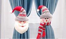 Set of Two Christmas Themed Curtain Tiebacks: