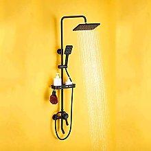 Set Wall-mounted Faucet Household Bath Bidet Black