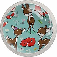 Set with Cute Fox Mouse and Deer, 4Pack ABS