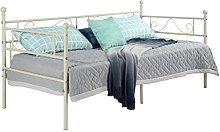 setsail Full Metal 3ft Single Day Bed Frame Guest