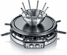 Severin Raclette-Partygrill & fondue inox