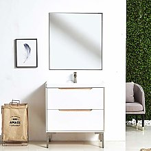 SEVETILKA 600 mm White Wall Hung Bathroom Vanity