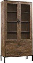 Sevilla Display Cabinet In Dark Pine With 2 Doors