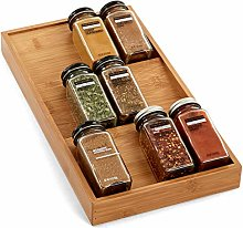Seville Classics 3-Tier Bamboo Spice Rack Cabinet