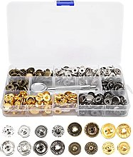 Sew-on Snap Buttons Metal Snaps Small Lightweight