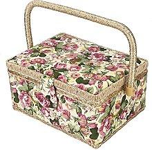 Sewing Basket,ASHATA 3Colors Craft Fabric Sewing