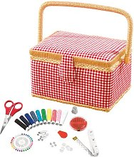 Sewing basket made of fabric and plastic Symple Stuff