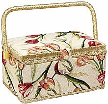 Sewing Basket with Tulip Floral Print Design-