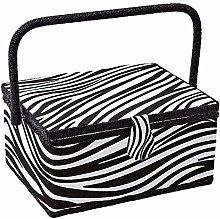 Sewing Basket with Zebra Design - Sewing Kit