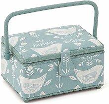 Sewing Box/Basket ~ Medium ~ Duck Egg Brids ~