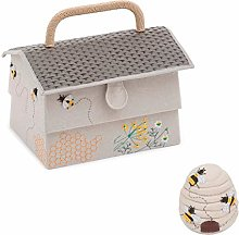 Sewing Box/Basket Plus Pincushion ~ Beehive/Bee