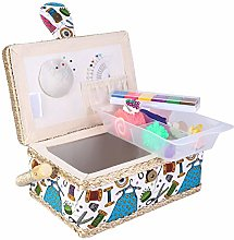 Sewing Kit Basket, Portable Sewing Basket with