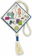 SEWING SCISSOR KEEP CROSS STITCH KIT BY TEXTILE