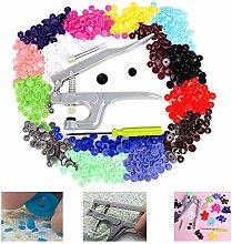Sewing Snap Fasteners Kit, 350Pcs T5 Metal Sewing