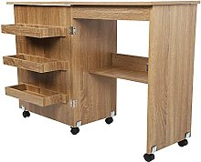 Sewing Table, Sewing Table Folding Craft Cart Wood