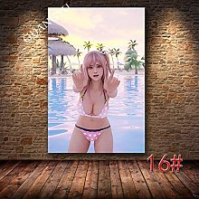 Sexy Anime Game Print Poster Print Canvas Painting