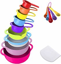 SeYoPoll 16 Piece Mixing Bowl Set - Colorful