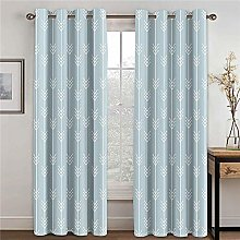 SFALHX Blackout Eyelet Curtains Duck Egg Blue &