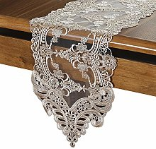 SFBBAO Table Runner Tulle Lace Embroidered Table