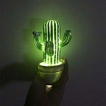 SFRIDQ Cactus LED Lamp Night Light With Soft Light