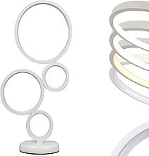 SFSGH Circle Design Table Lamp, 3 Colors Dimmable
