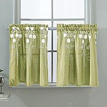 SGAIYUNRT Short Embroidered Curtain Fabric for