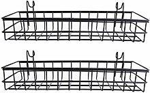 SGerste 2X Mesh Wall Metal Wire Basket, Grid Panel