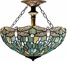 sgvag Tiffany Ceiling Fixture Lamp Semi Flush