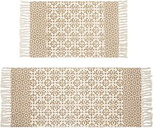 SHACOS Cotton Area Rug Large Printed Rugs with