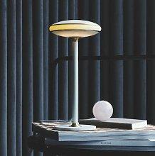 Shade ØS1 LED table lamp rings brass, white base