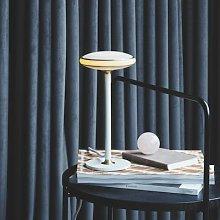 Shade ØS1 table lamp rings brass base white Node