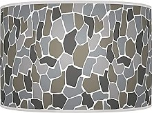 Shades of Grey Pebble Lampshade - Handmade Shade -