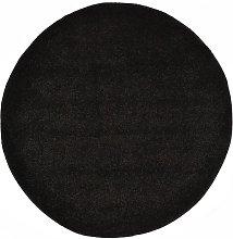 Shaggy Area Rug 120 cm Black - Black - Vidaxl