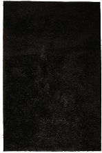 Shaggy Area Rug 140x200 cm Black - Black - Vidaxl