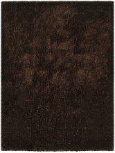 Shaggy Area Rug 140x200 cm Brown - Brown - Vidaxl
