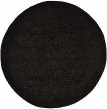 Shaggy Area Rug 160 cm Black - Black - Vidaxl