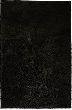 Shaggy Area Rug 160x230 cm Black - Black - Vidaxl