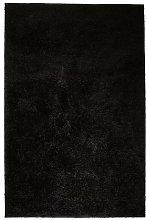 Shaggy Area Rug 80x150 cm Black VD02105 - Hommoo