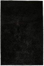 Shaggy Area Rug 80x150 cm Black