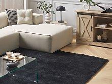 Shaggy Area Rug Black 200 x 200 cm Modern