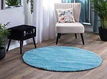Shaggy Area Rug Blue 140 cm Modern High-Pile