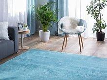 Shaggy Area Rug Blue 140 x 200 cm Modern High-Pile