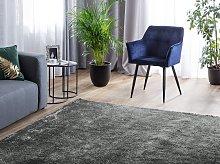 Shaggy Area Rug Dark Grey 140 x 200 cm Modern