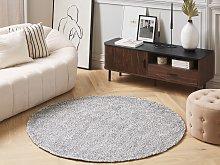 Shaggy Area Rug Grey Melange 140 cm Modern