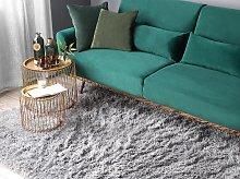 Shaggy Area Rug High-Pile Carpet Solid Grey